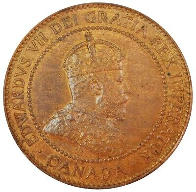 1908 Canada One Cent King Edward Vii Coin Uncirculated Condition
