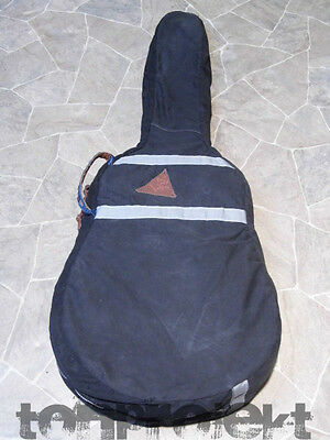 vintage Textil Tasche dreadnought Gitarrentasche Gitarre LEINEN black guitar bag