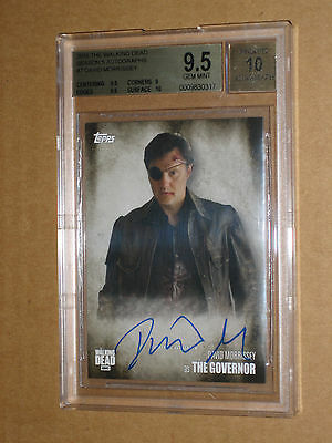 ✨ BGS 9.5 2016 WALKING DEAD DAVID MORRISSEY THE GOVERNOR SEASON 5 AUTO autograph