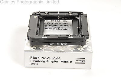 Mamiya RB67 Revolving Adapter Model 2 6×8 WA67 (514368). Condition – 1E [5401]
