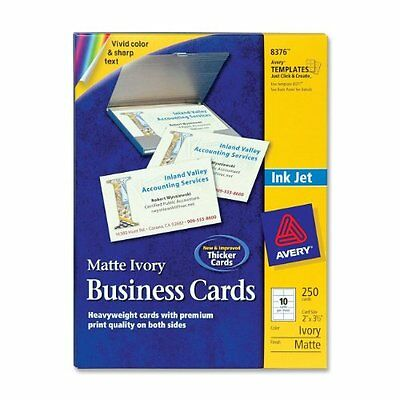 """Avery Business Card - A8 - 2"""" X 3.50"""" - Matte - 250 / Pack - Ivory (8376)"""