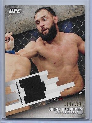 JOHNY HENDRICKS '15 Topps KNOCKOUT UFC (110/188) FIGHTER-WORN RELIC Rare UFN 112