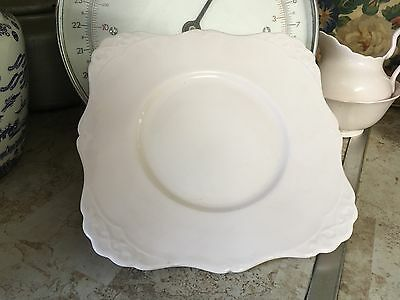 VINTAGE TUSCAN CHINA BABY PALE PINK Cake Plate Bread And Butter Plate