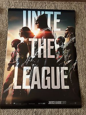Justice League Original Double Sided Cinema One Sheet Poster