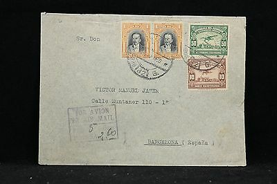 Ecuador: 1930 Airmail Cover to Spain, 4 Stamps