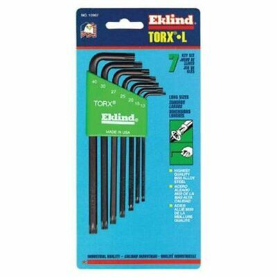 Eklind Tool Company 10907 7 Piece Long Torx L-key Set