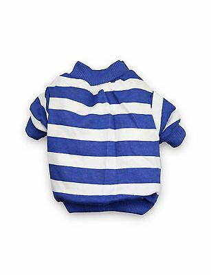 DroolingDog Pet Dog Striped Clothes Summer Cotton T-shirt for Small Dogs