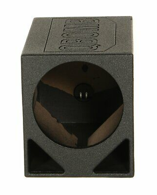 """Qpower QBOMB12TBSINGLE Single 12"""" Triangle Ported Finished W/bed Liner"""
