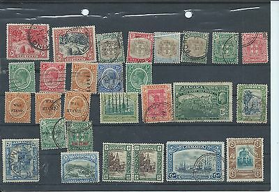 Jamaica stamps. Early used lot. Bottom row are multiscript CA  (Y673)