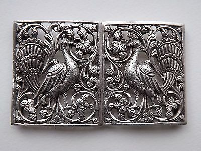 Antique Victorian Aesthetic Style White Metal / Silver? Nurses Buckle - c.1900