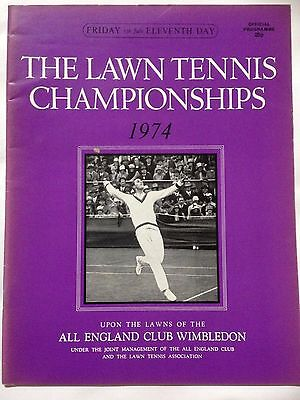 WIMBLEDON Lawn Tennis Championships Official Programme. July 5th 1974, Day 11