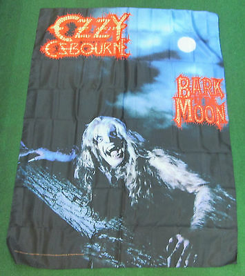 Ozzy Osbourne Texile Poster Flag  Rare New Never Opened Black Sabbath Bark Moon