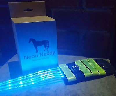 Neon Neddy Rechargeable Horse Tail LED Safety Light, PINK, BLUE, RED, YELLOW,