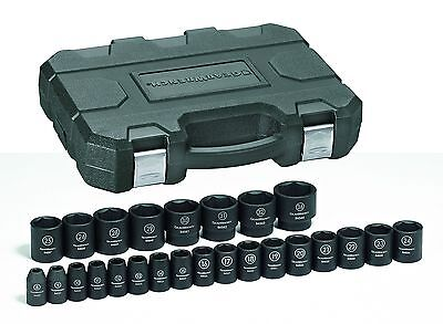 "Gearwrench 84933N 25 Piece 1/2"" Drive 6 Point Metric Impact Socket Set"