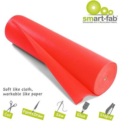 """Smart-fab Disposable Fabric Rolls - 36"""" X 600 Ft - 1 / Roll - Red - Fabric"""