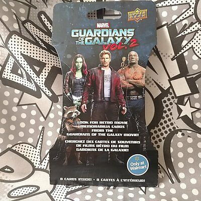 Guardians of the Galaxy Vol 2 Upper Deck Walmart Exclusive Single Unopened Pack