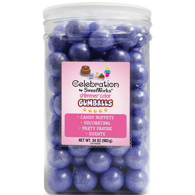 Celebrations By SweetWorks Gumballs 34oz-Shimmer (TM) Lavender