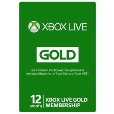Xbox Live 12 Month Sub Card (preloaded) (Xbox One)
