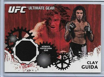 CLAY GUIDA  2010 TOPPS Ultimate Gear UFC RELIC  Gem Mint VINTAGE MMA MEMORABILIA