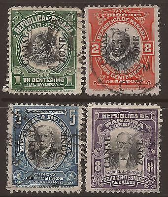 Canal Zone / Panama. 1906. Four Used