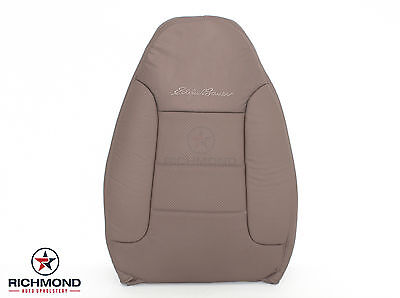 1995 Ford Bronco Eddie Bauer -Driver Lean Back PERFORATED Leather Seat Cover Tan