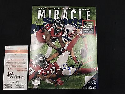 Julian Edelman Sports Illustrated Patriots Signed 8X10 Photo The Catch Wp418485