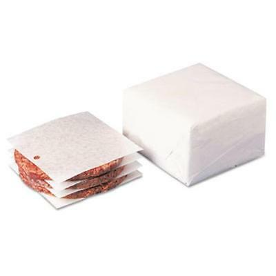 Dixie Foods WR58 Dry Wax Laminated Patty Paper With Hole, White, 5 X 5