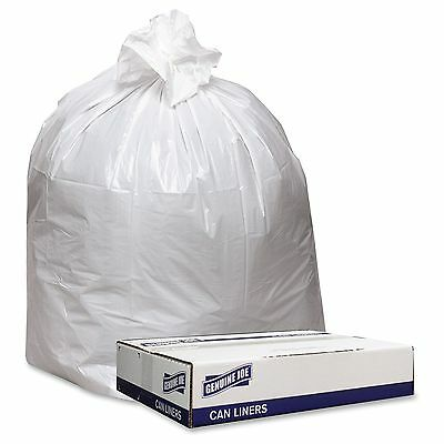 "Genuine Joe Extra Heavy-duty White Trash Can Liners - 33"" Width X 39"" Length X 9"