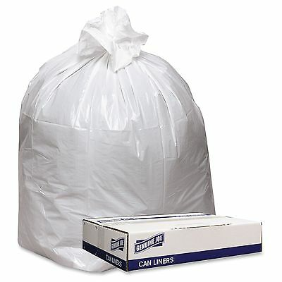 "Genuine Joe Extra Heavy-duty White Trash Can Liners - 43"" Width X 47"" Length X 9"