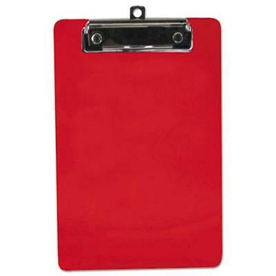 "Saunders 00518 Plastic Clipboard, 1/2"" Capacity, 6 X 9 Sheets, Red"