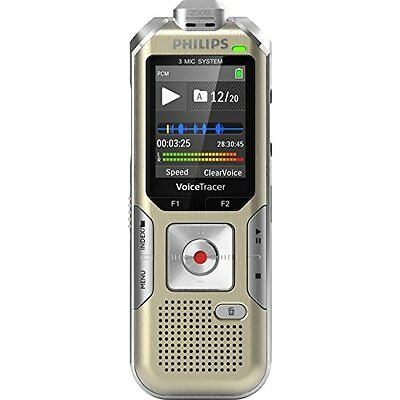 Philips Dvt8010 Digital Voice Recorder - 8 Gb - Up To 284 Hrs [sp] -