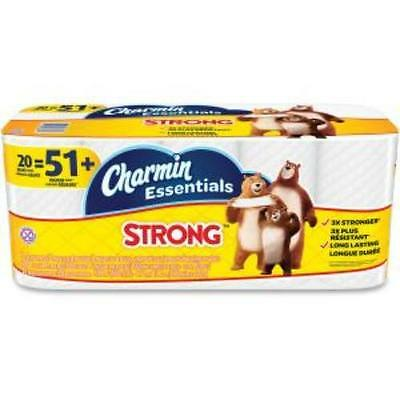 Charmin Ess. Strong Bath Tissue - 1 Ply - White - Paper - Wet Strength,