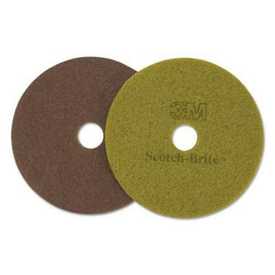 "3m 17018 Diamond Floor Pads, 19"" Diameter, Sienna, 5/carton"