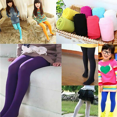 1Pcs Opaque Stockings New Girls Tights Pantyhose Candy Ballet Dance Hosiery Kids