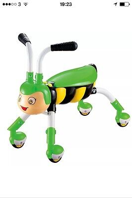 Green honey bee trike/scramble bug/ride on toy with music & light, boxed gift