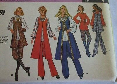 Vintage McCall's 1970's Pattern 2906 Misses' Coordinated Separates Size 16 FF