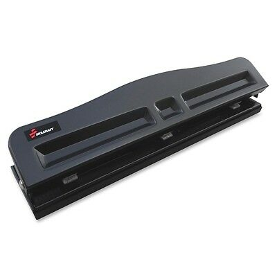 Skilcraft Light-duty Metal Hole Punch - 3 Punch Head[s] - 8 Sheet Capacity -