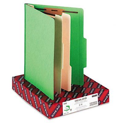 "Smead 14002 Green Classification File Folders - Letter - 8.50"" Width X 11"""