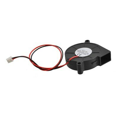 Black Brushless DC Cooling Blower Fan 5015S 12V 0.14A 50mm x 15mm CP