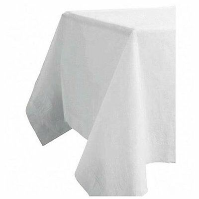 "Tatco Embossed Paper Tablecovers - 108"" X 54"" - 20/carton - Paper - White"