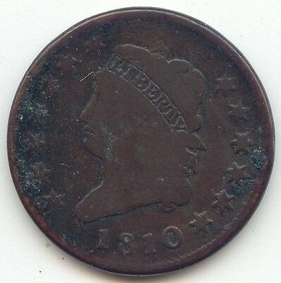 1810 Classic Head Large Cent, Smooth Brown VG