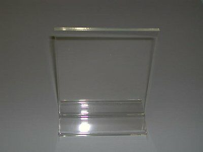 Deflect-o Superior Image Stand-up Sign Holder - Plastic - 1 Each - Clear