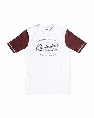 NEW QUIKSILVER™  Boys 8-16 Mixed Bag Short Sleeve Rash Vest Boys Teens Ski