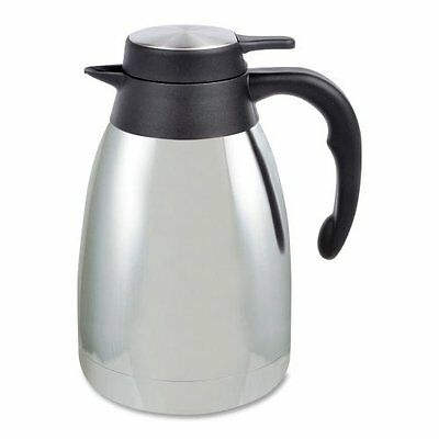 Genuine Joe Mirror Finish Classic Vacuum Carafe - 1.59 Quart - Vacuum - Steel