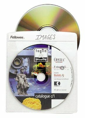 Fellowes Cd Album Refill Page - Book Fold - Plastic - Clear - 50 Cd/dvd (90661)