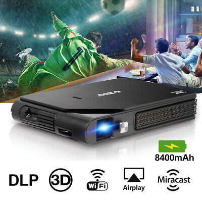 300'' Mini DLP Pocket Projector 3D Wifi HD Home Cinema Office Bluetooth HDMI USB