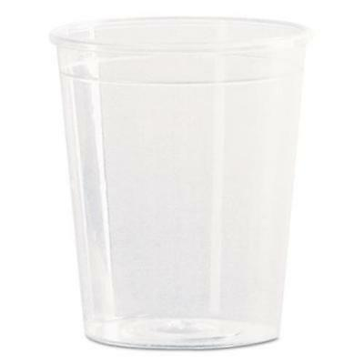 WNA Inc P20 Comet Plastic Portion/shot Glass, 2 Oz., Clear, 50/pack