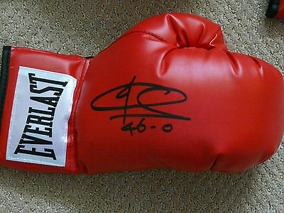 Joe Calzaghe signed Red Everlast Boxing Glove