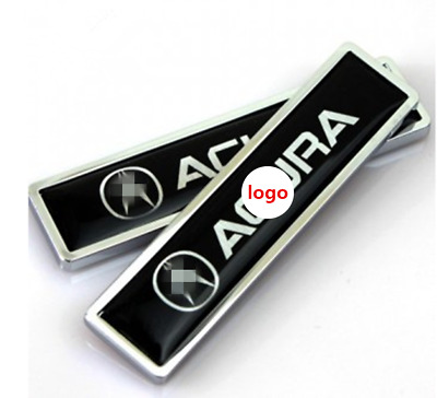 4pcs Silver 60mm Car Emblem Badge Sticker +Wheel Hub Caps Centre Cover for Acura