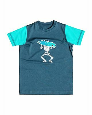 NEW QUIKSILVER™  Boys 2-7 Surf Bones Short Sleeve Rash Vest Boys Children